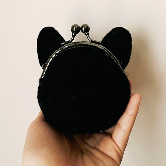 羊毛氈喵喵-口金包裝金幣