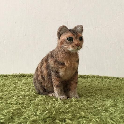 羊毛氈貓貓擺飾-養了20年的情感