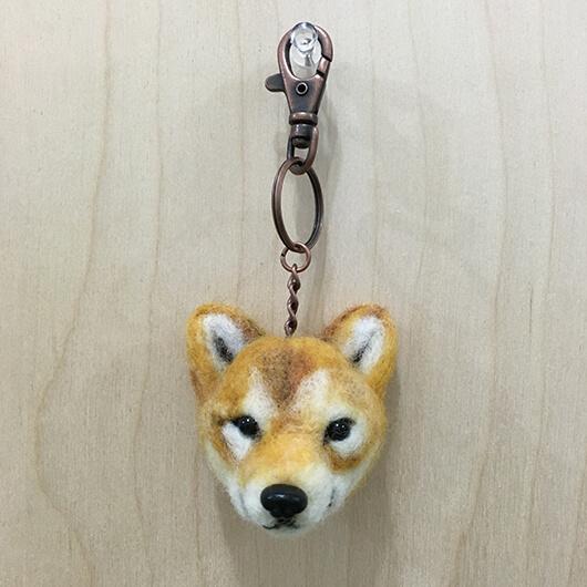 羊毛氈阿柴頭部鑰匙圈