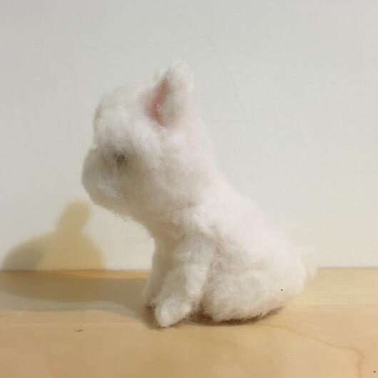 羊毛氈粉嫩嫩狗狗擺飾