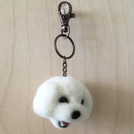 羊毛氈瑪爾濟斯頭部鑰匙圈
