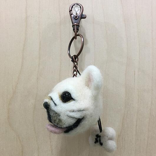 羊毛氈法鬥頭部鑰匙圈-丸
