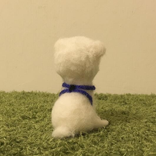 羊毛氈深邃眼神狗狗擺飾