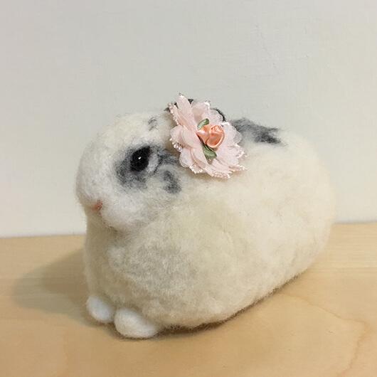 #0044羊毛氈兔兔擺飾—新娘兔兔-Felt Making