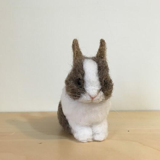 羊毛氈頭可轉動的兔兔擺飾-Felt Making