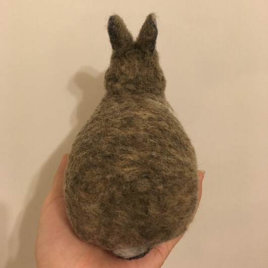 羊毛氈兔兔擺飾-一大一小兩隻寶