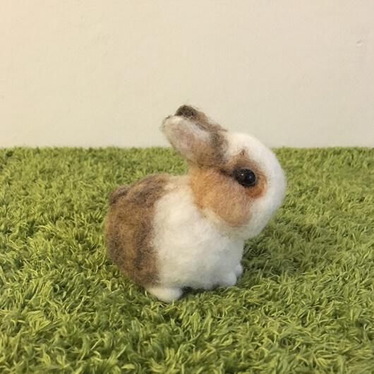 羊毛氈兔兔擺飾-橘妹