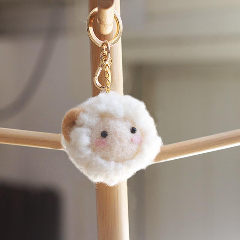 可愛正義牡羊座羊毛氈鑰匙圈材料包