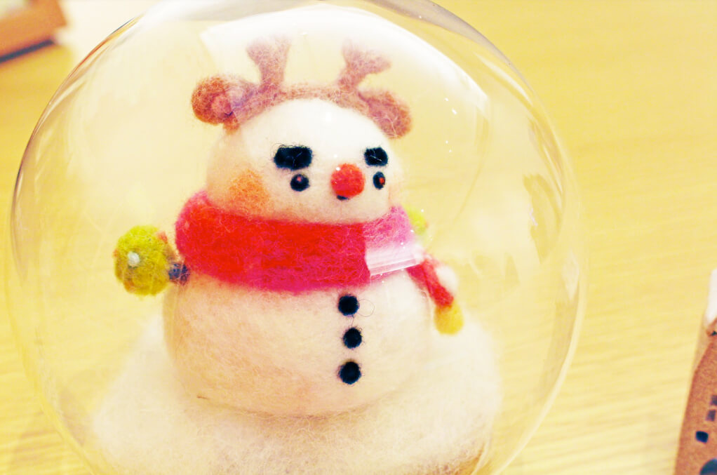 聖誕節雪人羊毛氈