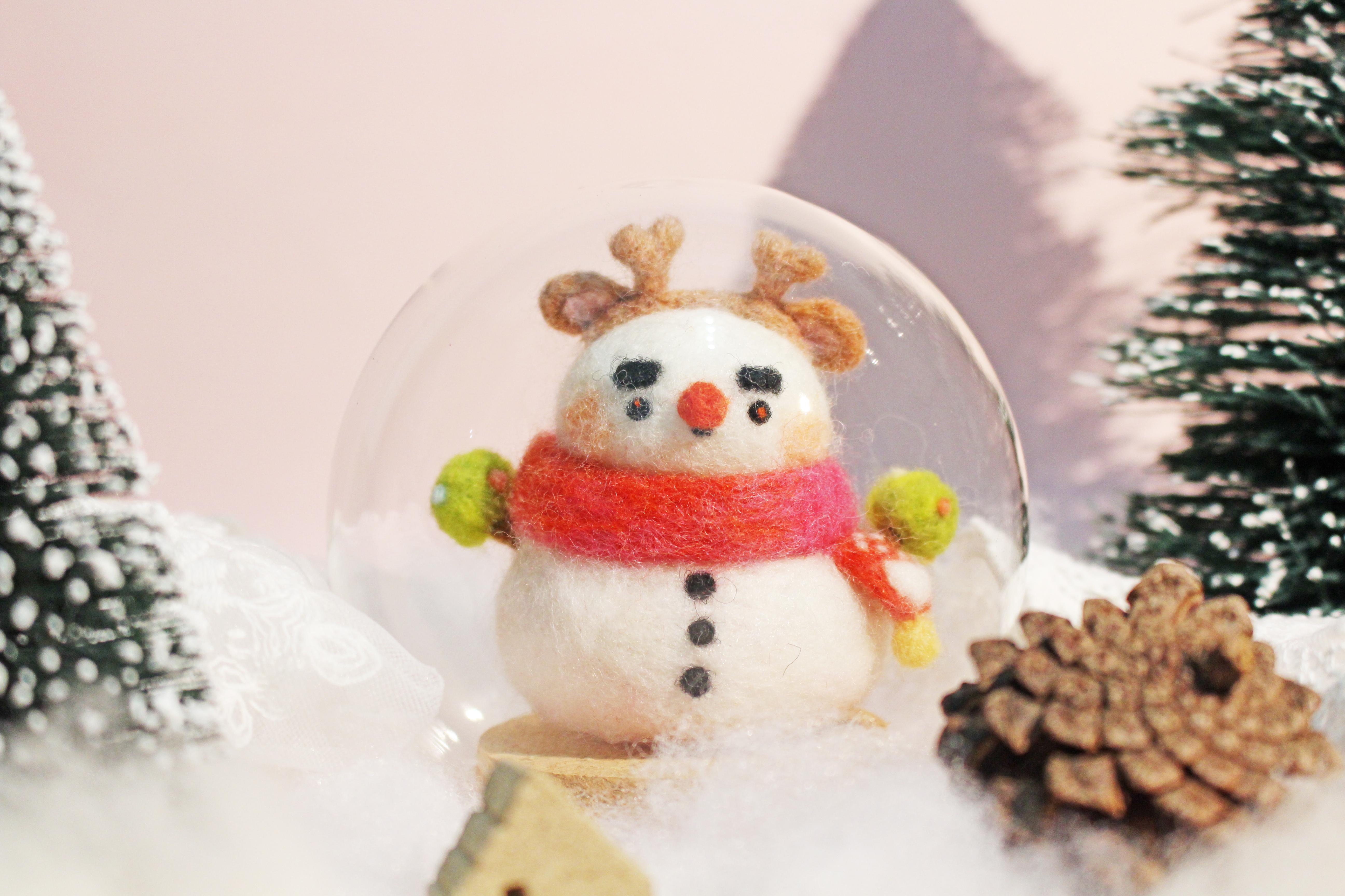 【聖誕手作趴】柔軟小雪人,在冬夜暖暖你的心(已截止)