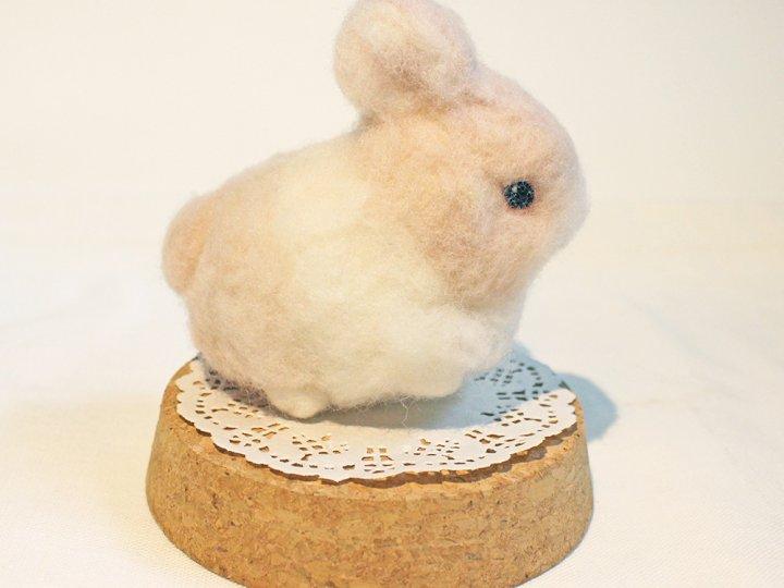 【羊毛氈課程】軟毛迷你兔羊毛氈,超軟Q~等你帶回家