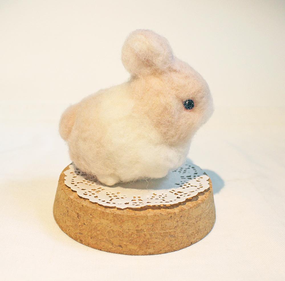 【課程】軟毛迷你兔羊毛氈,超軟Q~等你帶回家