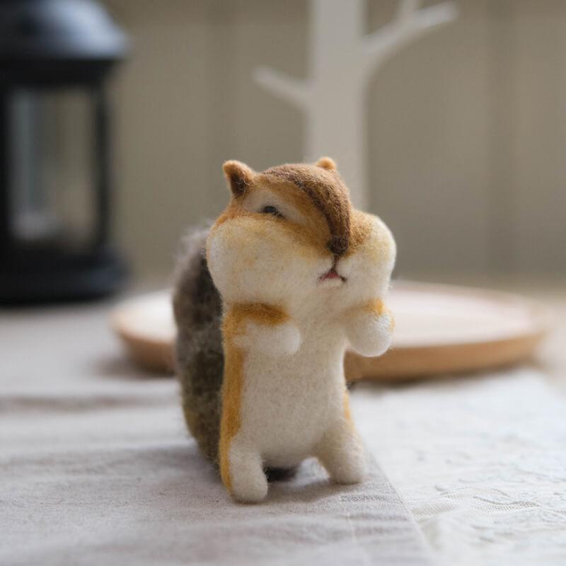 羊毛氈 花栗鼠