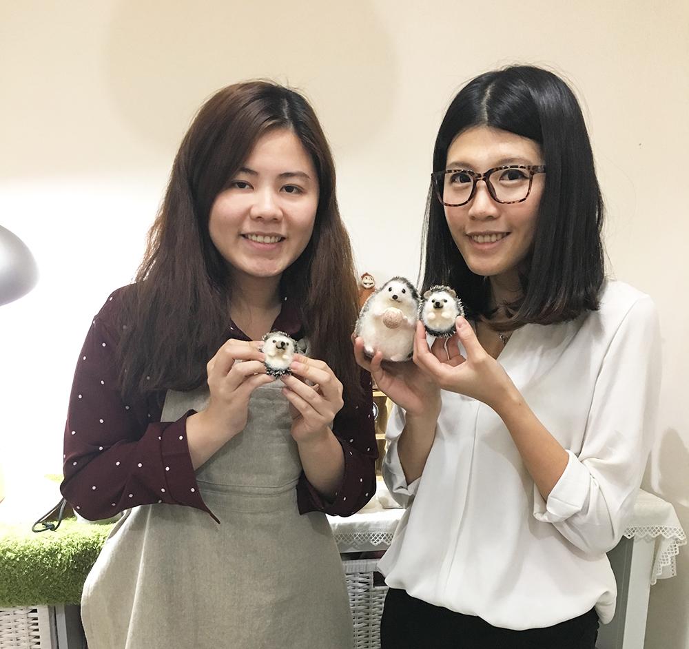 【羊毛氈教學花絮】2017第6週預約羊毛氈教學