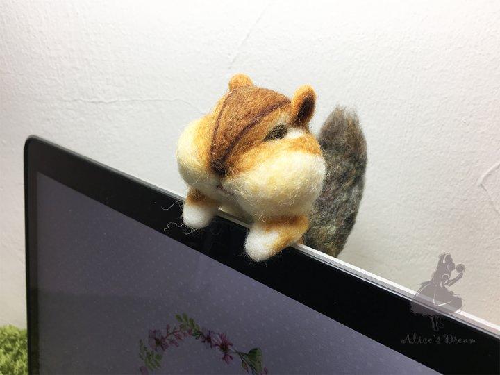 【羊毛氈課程】 辦公桌小物,療癒花栗鼠羊毛氈