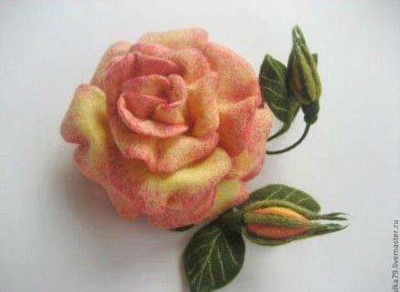 【教學】如何用羊毛氈製作玫瑰花