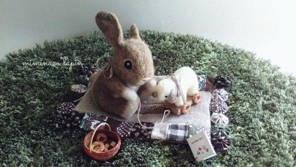 【可愛】羊毛氈兔兔,幫他們多做一些小配件吧~