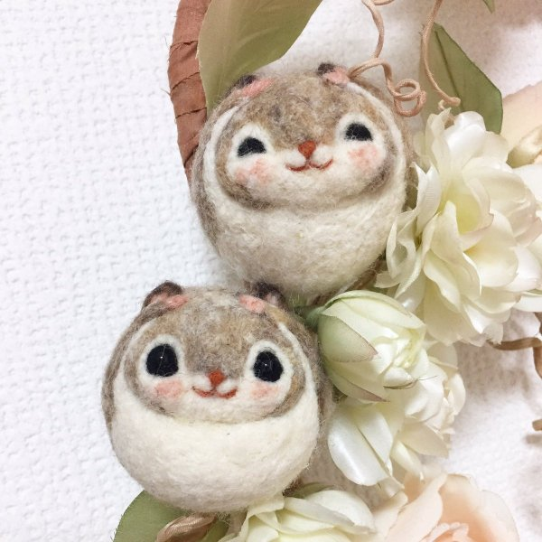 【可愛】超可愛小飛鼠羊毛氈