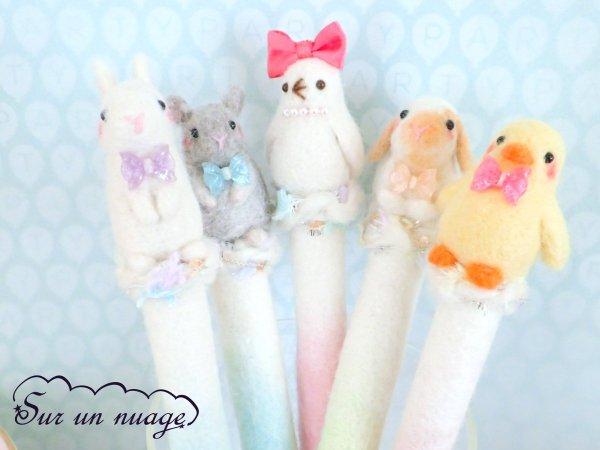 【可愛】超可愛羊毛氈動物筆套澎湃繽紛色彩