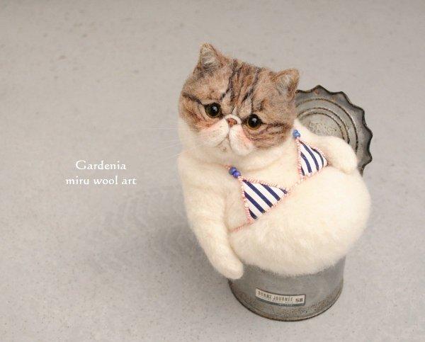 【逼真】超寫實貓咪羊毛氈