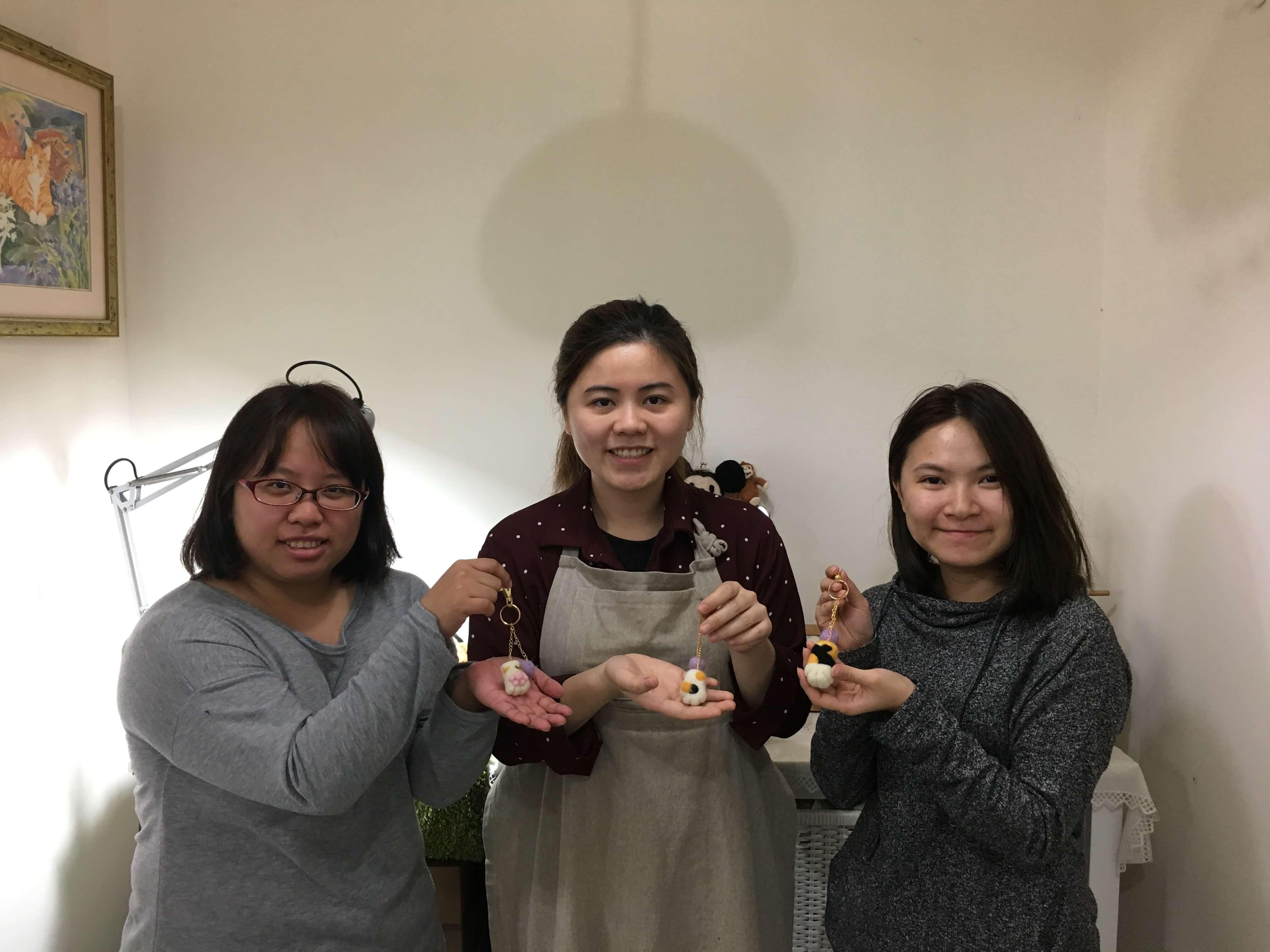 【羊毛氈教學花絮】2017第10週預約羊毛氈教學