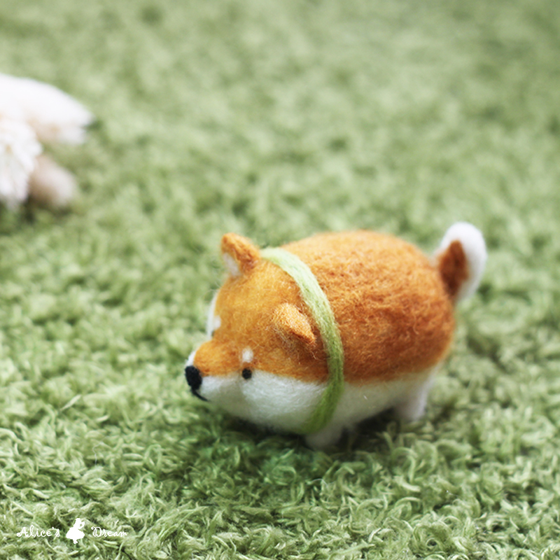 【羊毛氈課程】 圓滾滾可愛胖柴鑰匙圈羊毛氈