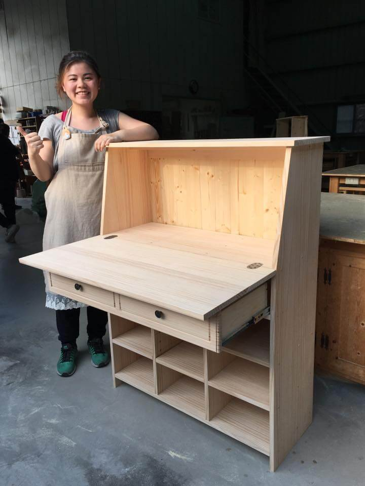 【手扎】愛麗絲羊毛氈專屬多功能手工木櫃完成啦!