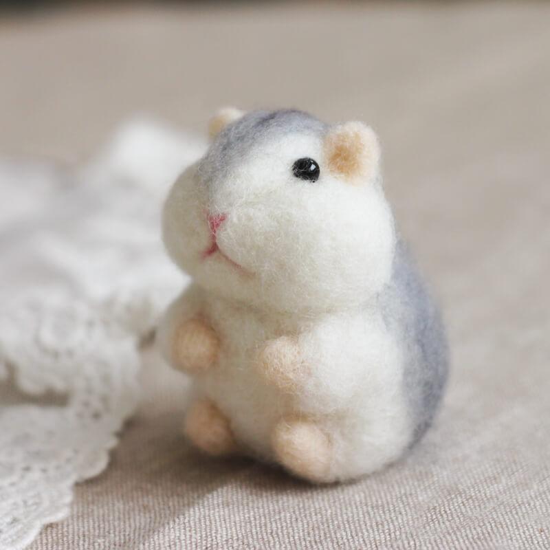 肥倉鼠不倒翁羊毛氈材料包