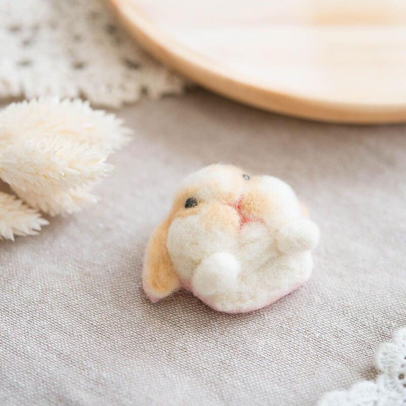 羊毛氈愛麗絲兔頭