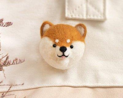 羊毛氈愛麗絲柴犬頭