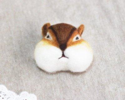羊毛氈愛麗絲花栗鼠