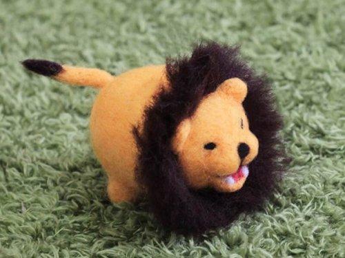 羊毛氈圓滾滾小獅子