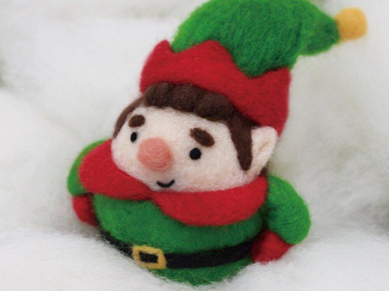羊毛氈聖誕圓滾滾綠精靈